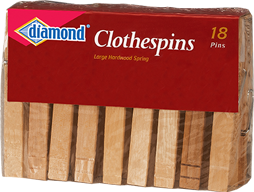 Diamond® Wood Clothespins