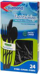 Entertaining Combo Earth in Mind Recycled Plastic Cutlery