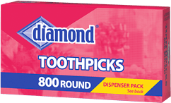 Diamond® Round Toothpicks