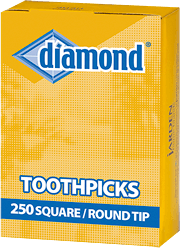 Diamond® Square/Round Tip Toothpicks