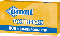 >Diamond® Square/Round Tip Toothpicks